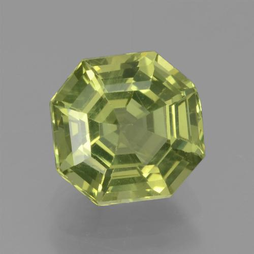 thumb image of 2.2ct Asscher Cut Golden Green Apatite (ID: 439159)
