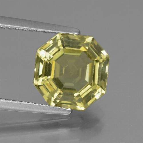 Medium Yellow Apatita Gema - 3.3ct Corte Asscher (ID: 439208)