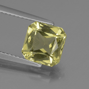 thumb image of 2.5ct Octagon / Scissor Cut Golden Green Apatite (ID: 439212)