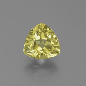 1.2ct Trillion Facet Golden Green Apatite Gem (ID: 439270)