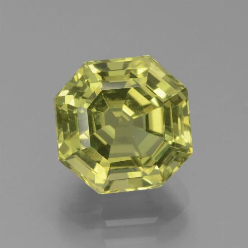 Golden Green Apatite Gem - 4.6ct Asscher Cut (ID: 439310)