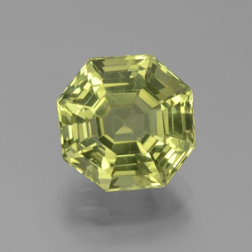 Golden Green Apatite Gem - 4.1ct Asscher Cut (ID: 439315)