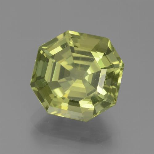 thumb image of 4.6ct Asscher Cut Golden Green Apatite (ID: 439318)