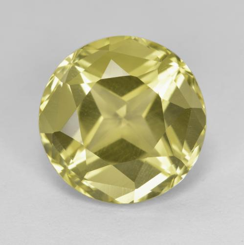 Greenish Golden Apatite Gem - 6.7ct Round Facet (ID: 447317)