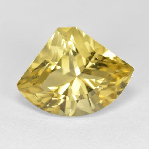 Golden Yellow Apatite Gem - 5.8ct Shark Fin Facet (ID: 447321)