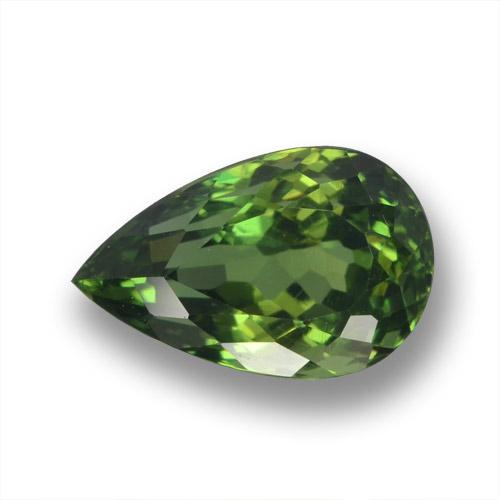 Green Apatite Gem - 3ct Pear Facet (ID: 460700)