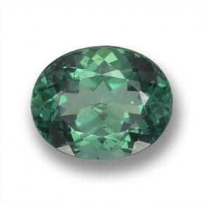 thumb image of 2.6ct Oval Facet Green Apatite (ID: 460708)