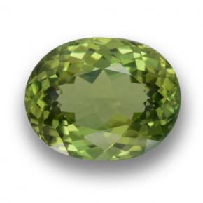 Green Apatite Gem - 2.3ct Oval Facet (ID: 460865)