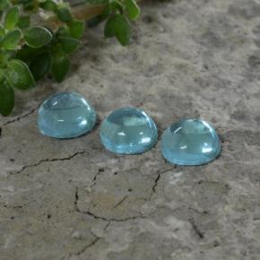 Green Blue Apatite Gem - 0.3ct Round Cabochon (ID: 468272)