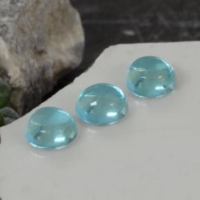 Green Blue Apatite Gem - 0.3ct Round Cabochon (ID: 468353)