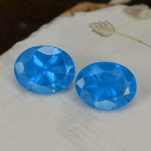 0.4ct Oval Facet Deep Baby Blue Apatite Gem (ID: 468560)