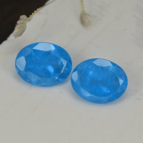 0.4ct Oval Facet Intense Blue Apatite Gem (ID: 468564)