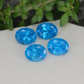 0.4ct Oval Facet Deep Azure Apatite Gem (ID: 468582)