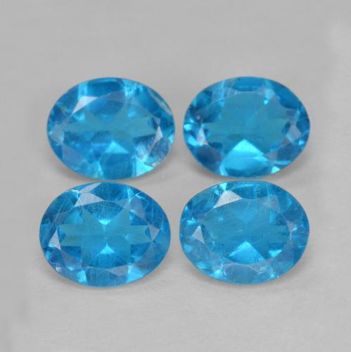 0.4ct Oval Facet Deep Azure Apatite Gem (ID: 468587)