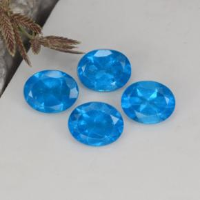 0.4ct Oval Facet Intense Blue Apatite Gem (ID: 468629)