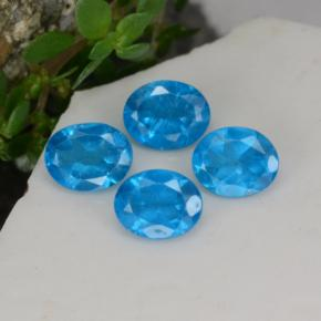 0.4ct Oval Facet Swiss Blue Apatite Gem (ID: 468633)