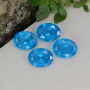 0.4ct Oval Facet Medium Blue Apatite Gem (ID: 468635)