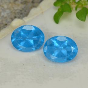 Blue Apatite Gem - 0.4ct Oval Facet (ID: 468658)