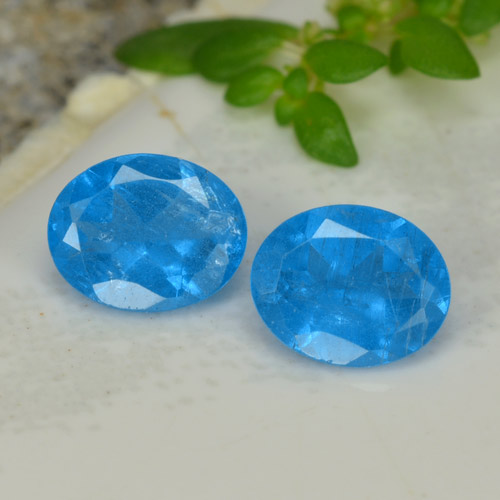 0.4ct Oval Facet Intense Blue Apatite Gem (ID: 468659)