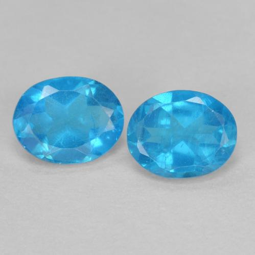 0.4ct Oval Facet Intense Blue Apatite Gem (ID: 468662)