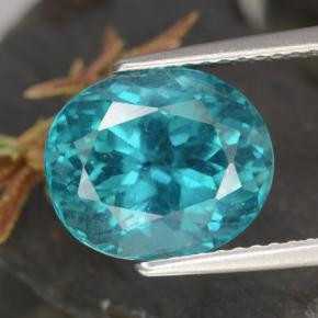 4.5ct Oval Facet Bright Greenish Blue Apatite Gem (ID: 468664)