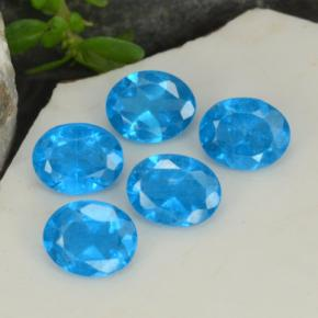 0.3ct Oval Facet Intense Blue Apatite Gem (ID: 468740)