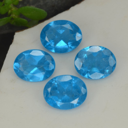 0.3ct Oval Facet Intense Blue Apatite Gem (ID: 468741)