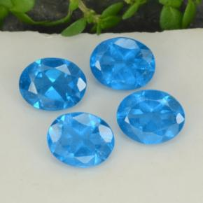 0.4ct Oval Facet Intense Blue Apatite Gem (ID: 468743)