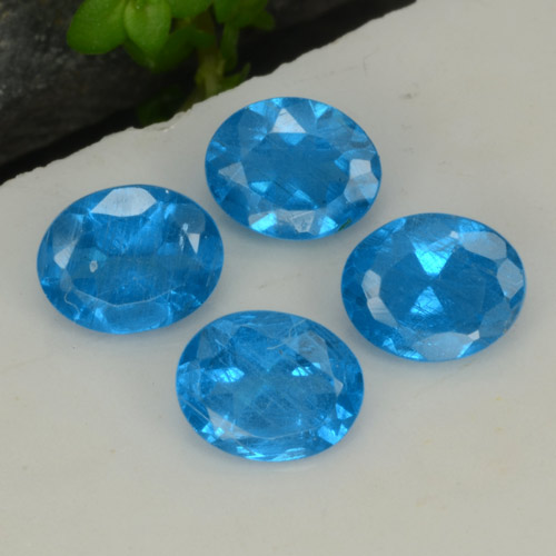 0.3ct Oval Facet Intense Blue Apatite Gem (ID: 468745)