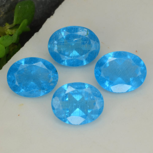 0.3ct Oval Facet Intense Blue Apatite Gem (ID: 468749)