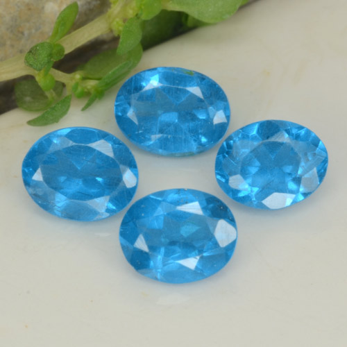0.4ct Oval Facet Intense Blue Apatite Gem (ID: 468751)
