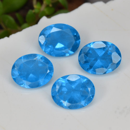 0.4ct Oval Facet Intense Blue Apatite Gem (ID: 468754)