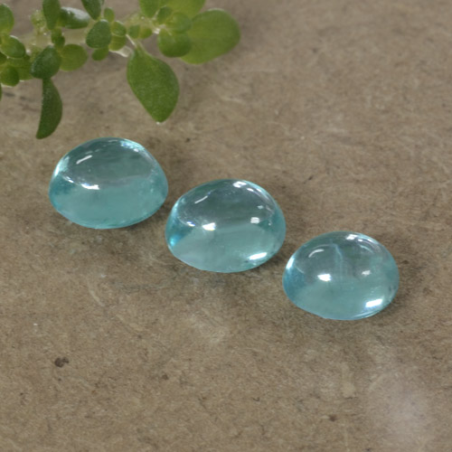 Blue Apatite Gem - 0.4ct Oval Cabochon (ID: 469200)