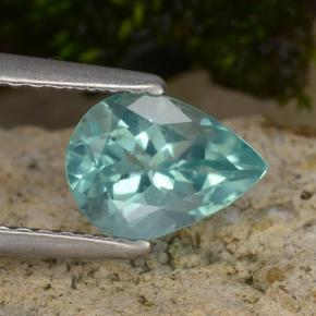Green Blue Apatite Gem - 1.2ct Pear Facet (ID: 475508)