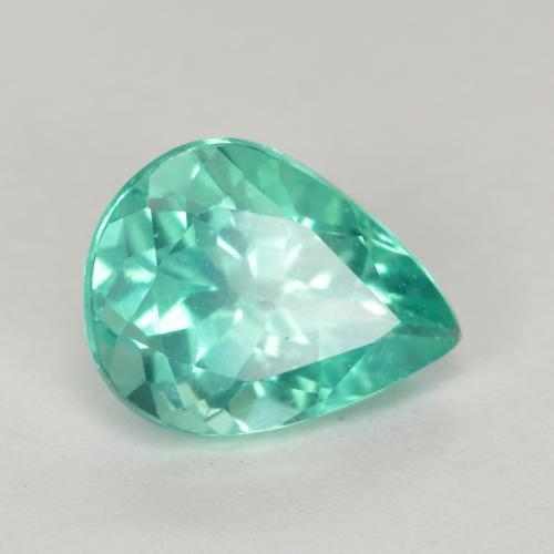 Green Blue Apatite Gem - 1.2ct Pear Facet (ID: 475509)