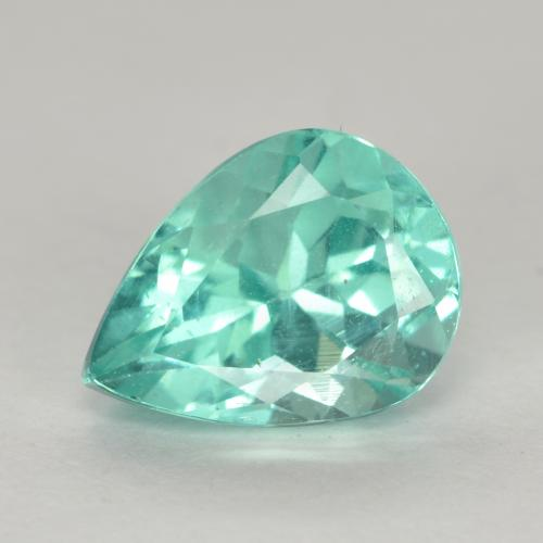 Green Blue Apatite Gem - 1.3ct Pear Facet (ID: 475514)
