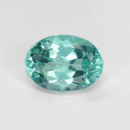 Green Blue Apatite Gem - 1.3ct Oval Facet (ID: 475518)