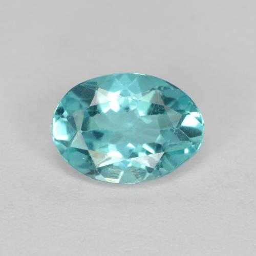 Green Blue Apatite Gem - 0.7ct Oval Facet (ID: 475583)