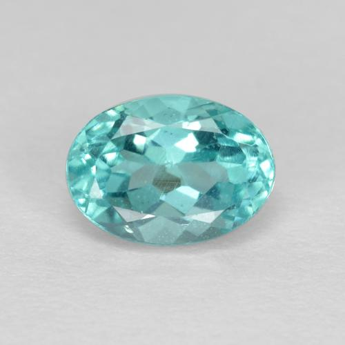 Green Blue Apatite Gem - 1ct Oval Facet (ID: 475649)