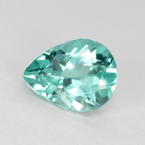 Green Blue Apatite Gem - 1.1ct Pear Facet (ID: 475650)
