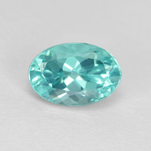 Green Blue Apatite Gem - 1ct Oval Facet (ID: 475699)