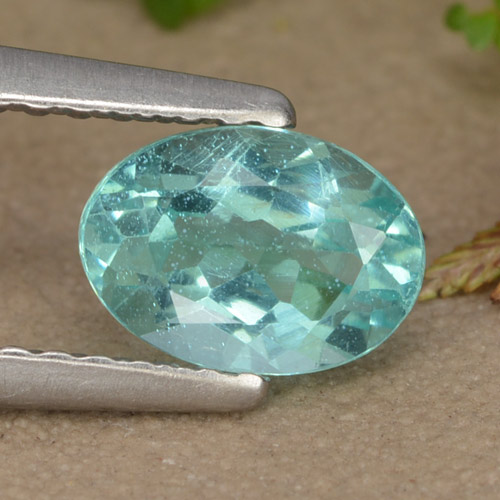 thumb image of 0.9ct Oval Facet Green Blue Apatite (ID: 475892)