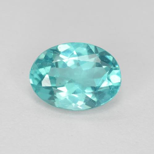 Green Blue Apatite Gem - 0.8ct Oval Facet (ID: 475895)