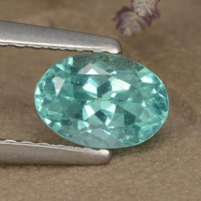 Green Blue Apatite Gem - 1ct Oval Facet (ID: 475896)