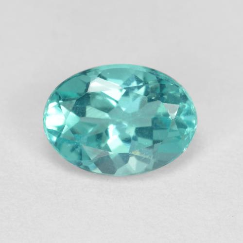 Green Blue Apatite Gem - 0.9ct Oval Facet (ID: 475901)