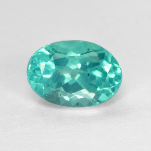 Green Blue Apatite Gem - 1.1ct Oval Facet (ID: 476005)