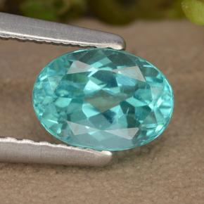 Green Blue Apatite Gem - 1ct Oval Facet (ID: 476007)
