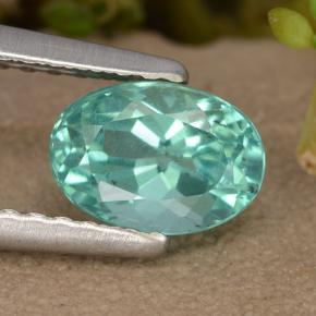1.1ct Oval Facet Green Blue Apatite Gem (ID: 476008)