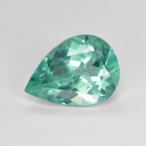 Green Blue Apatite Gem - 1.7ct Pear Facet (ID: 476111)