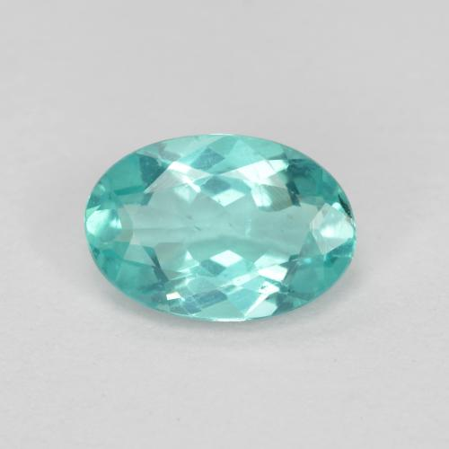 Green Blue Apatite Gem - 0.7ct Oval Facet (ID: 476161)